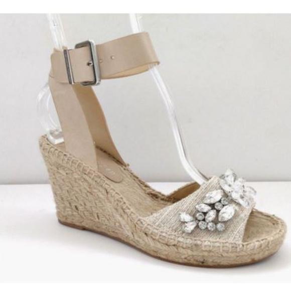 f5b29453995 Ivanka Trump 5.5 Jeweled Espadrille Wedge Sandal